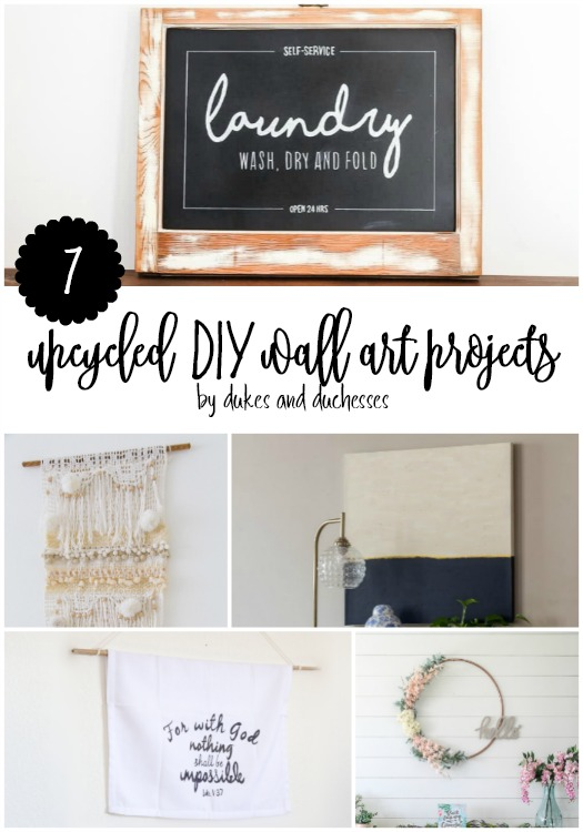 upcycled diy wall art projects