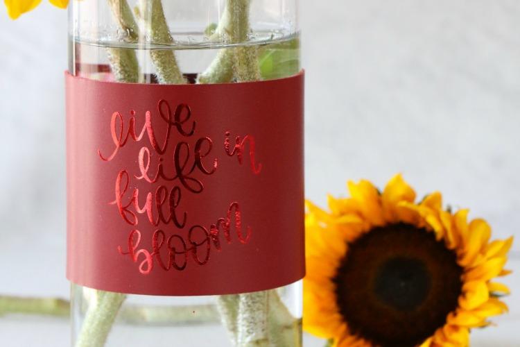 DIY Leather Vase Wrap