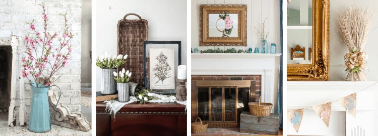 spring mantel decor ideas