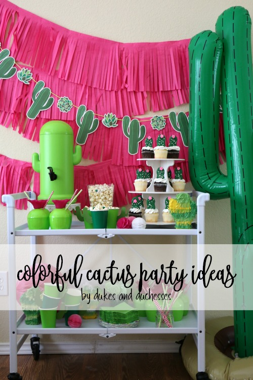 colorful cactus party ideas