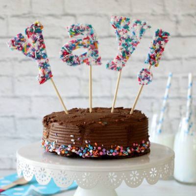 DIY Sprinkles Cake Topper