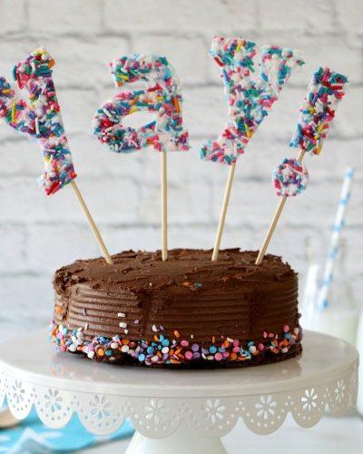 easy sprinkles cake topper