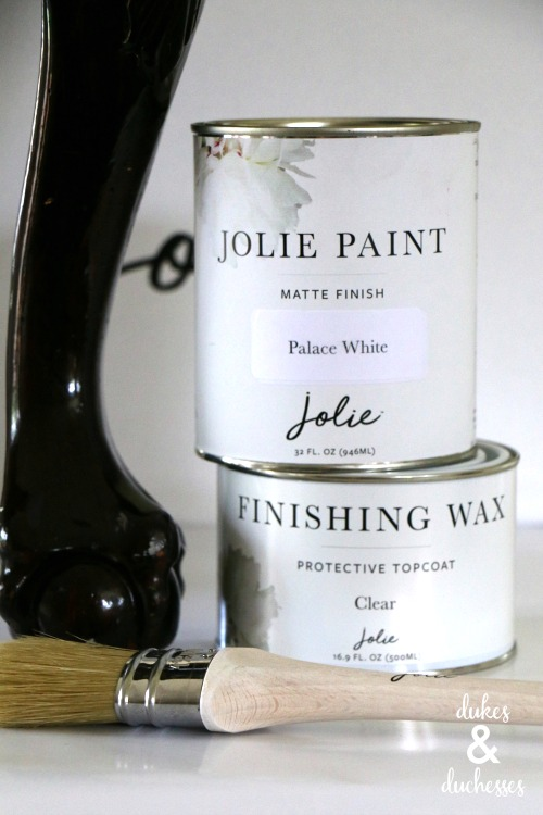 jolie matte finish paint in palace white