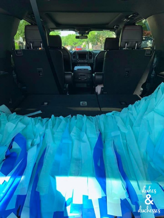 party decor in the 2019 ford expedition