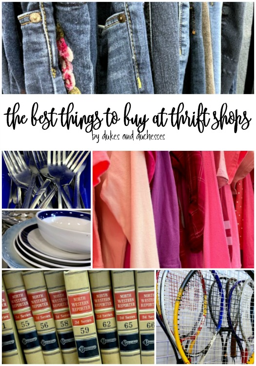 the best things to buy at thrift shops