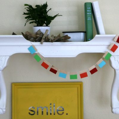 Upcycled Table Wall Shelf