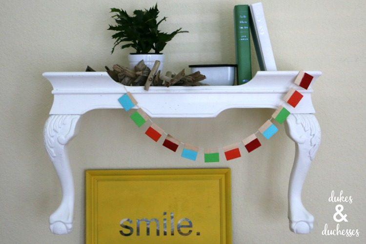 upcycled shelf idea