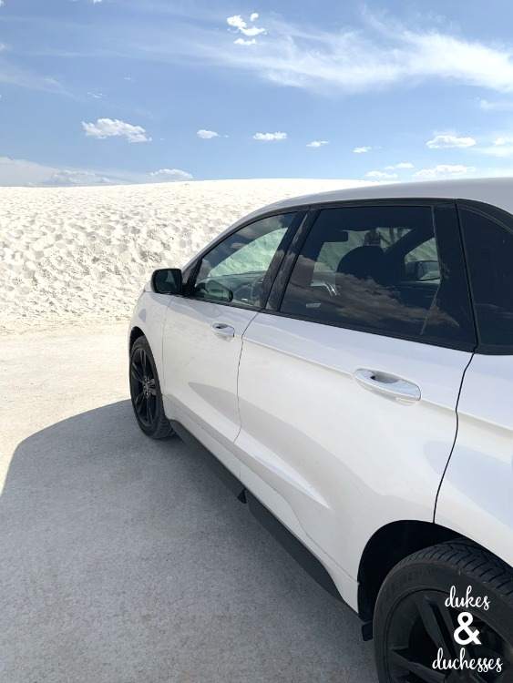 2019 ford edge st awd at white sands national monument