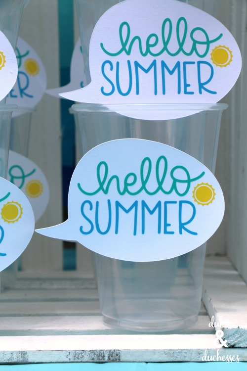 hello summer labels made with vinyl