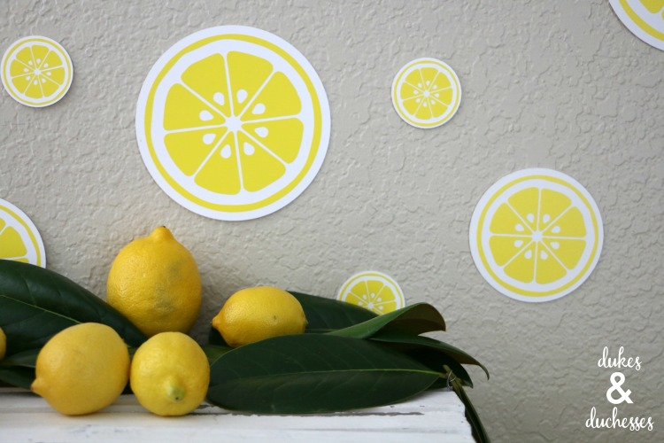 lemon slice party backdrop