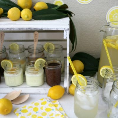 Lemon Dessert Bar Party Idea