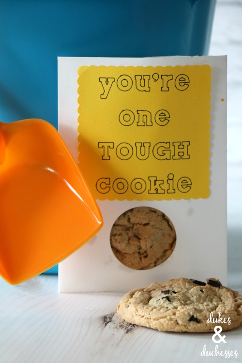 tough cookie gift tag idea for get well basket