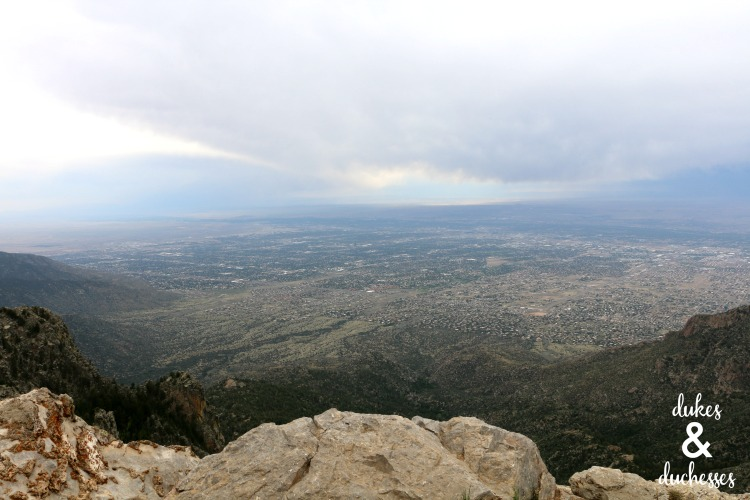 view from sandia peak tramway