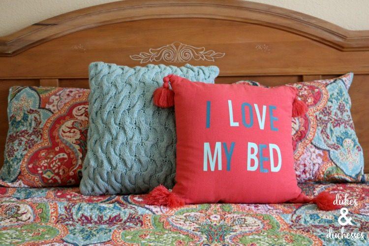 DIY bed pillow sham