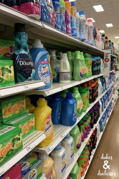 Target laundry aisle