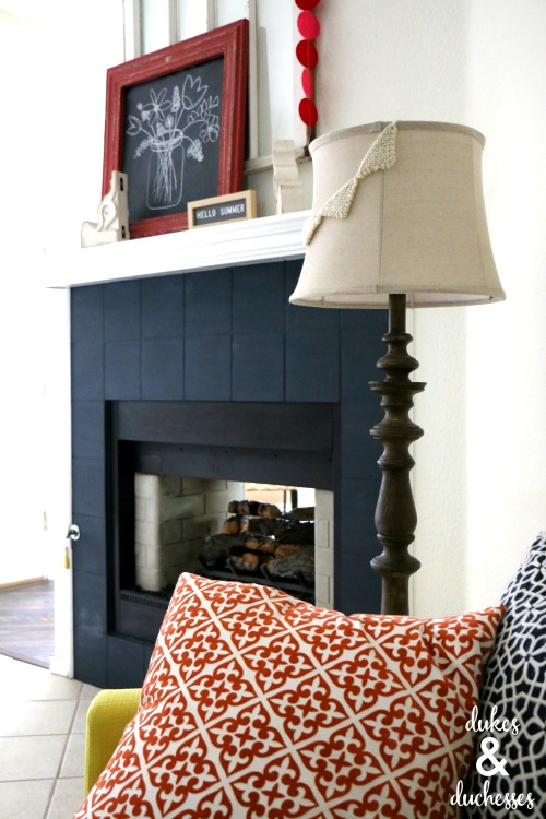 jolie paint classic navy for fireplace