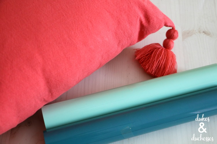 supplies for DIY pillow