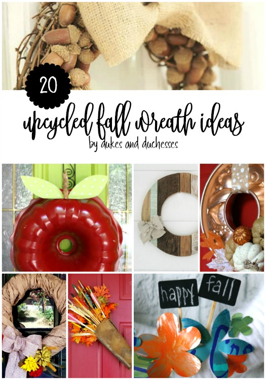 20 upcycled fall wreath ideas