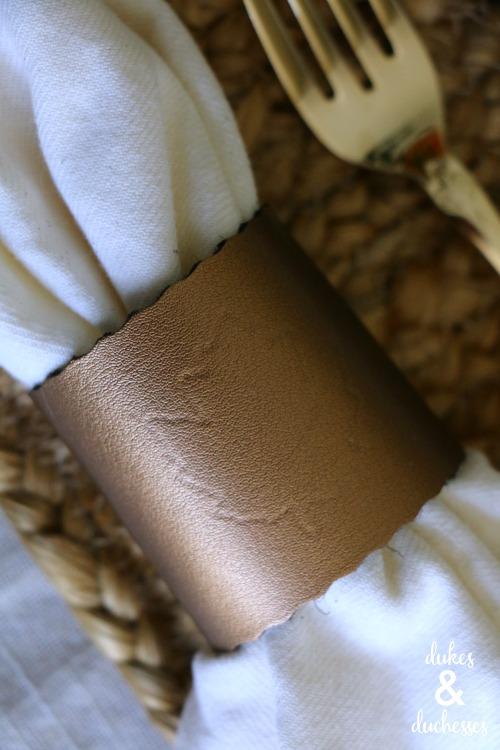 DIY debossed leather napkin ring