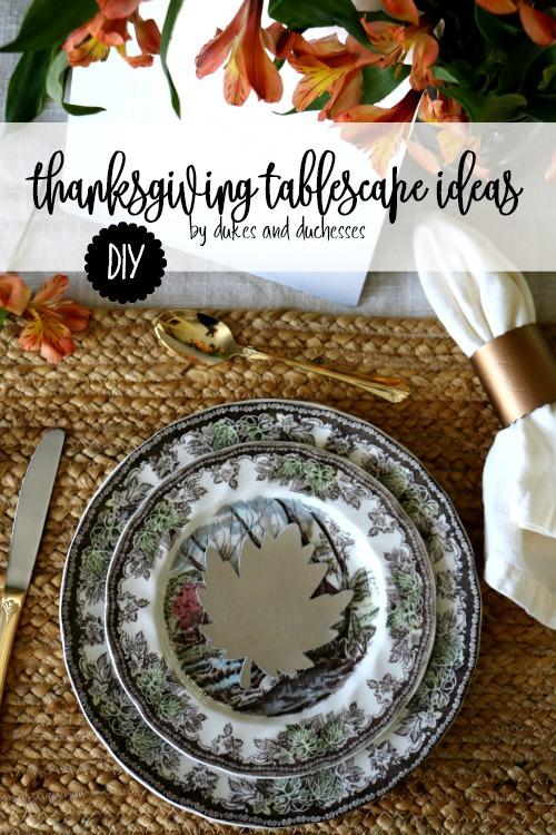 DIY thanksgiving tablescape ideas