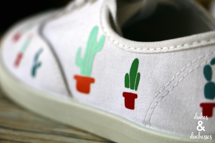 cactus shoes made with cricut explore air 2