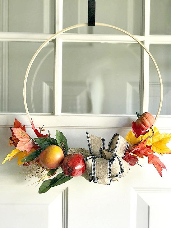 fall embroidery hoop wreath