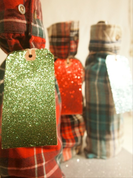 flannel shirt wine bottle bags