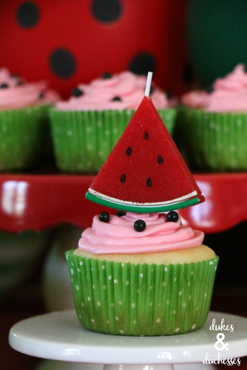 how to make easy watermelon cupcakes