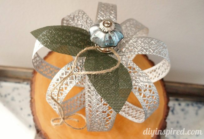 metal lace pumpkin