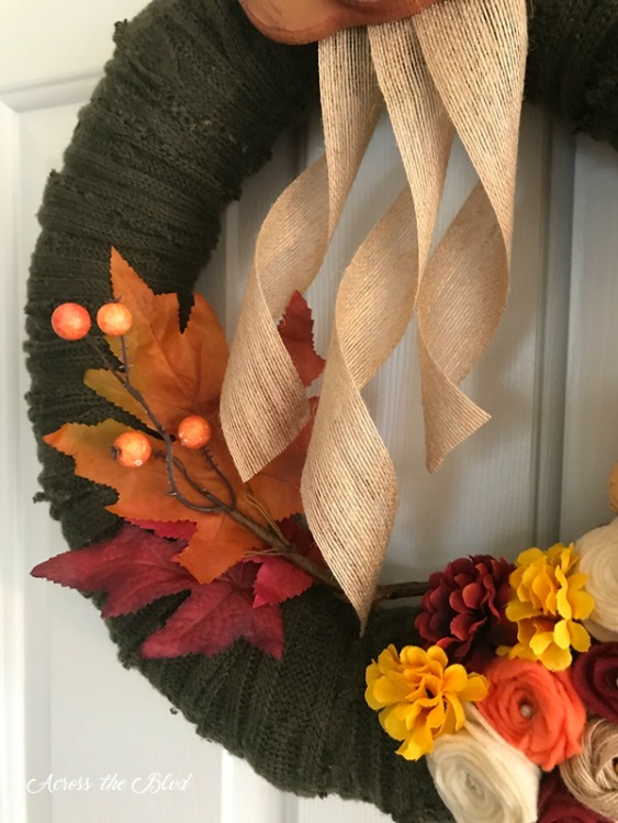 repurposed sweater wreath