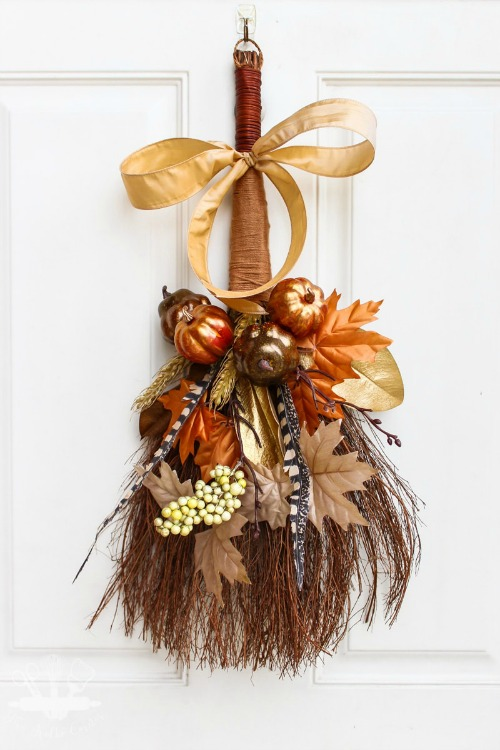rustic cinnamon broom wreath