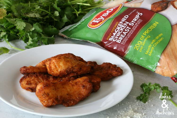 tyson blackened chicken breast strips