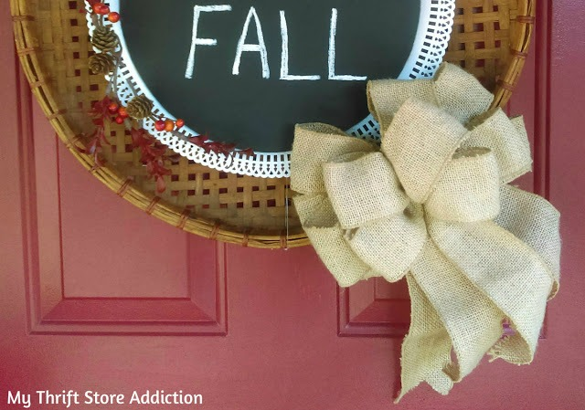 upcycled thrift store fall wreath
