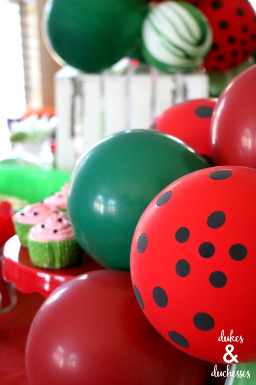 watermelon balloon garland