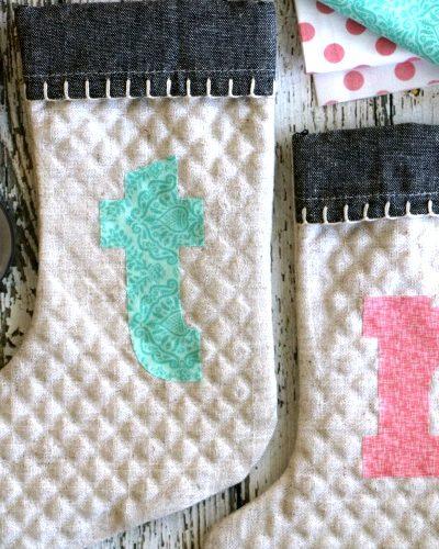 DIY monogrammed stockings