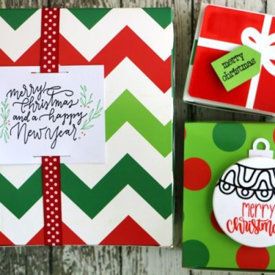 DIY Holiday Gift Tags Made with the Cricut Explore Air 2