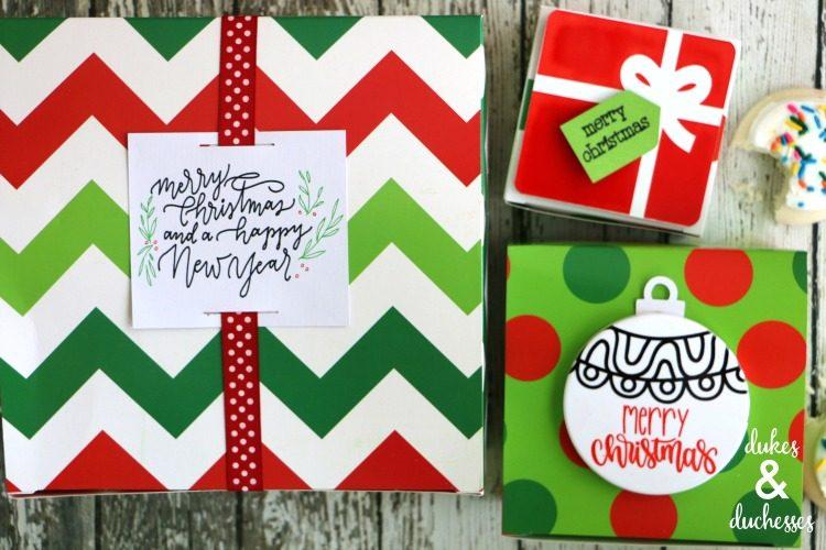 cricut holiday gift tags