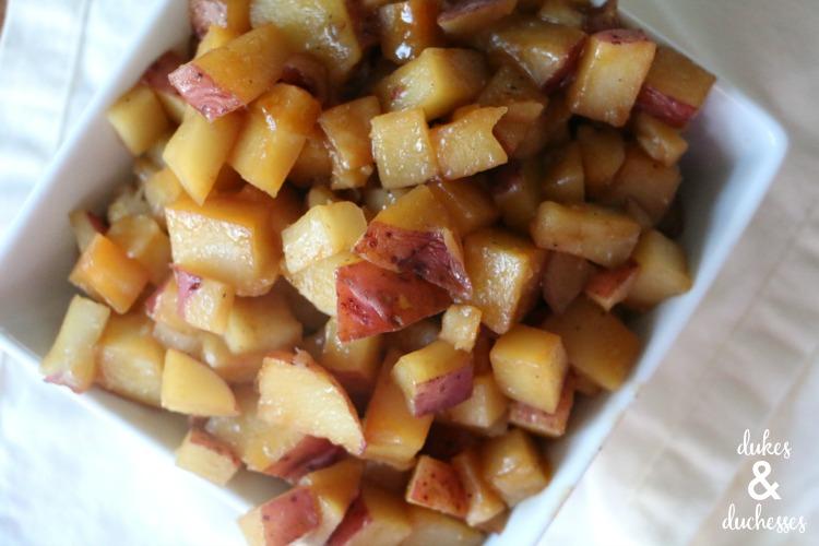 easy microwave teriyaki potatoes