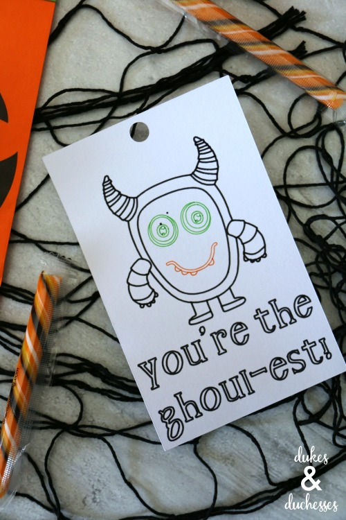 ghoulest halloween gift tag