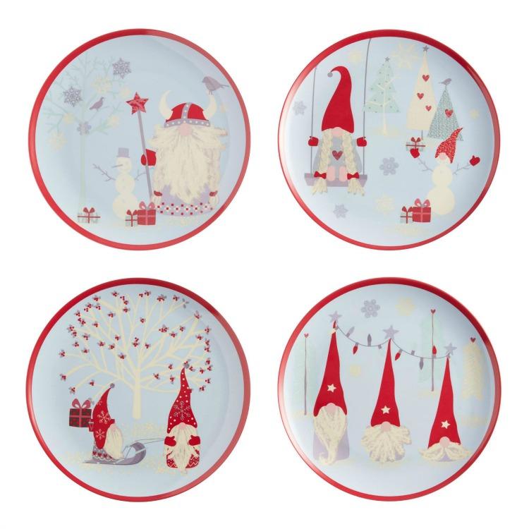 gnome melamine plates