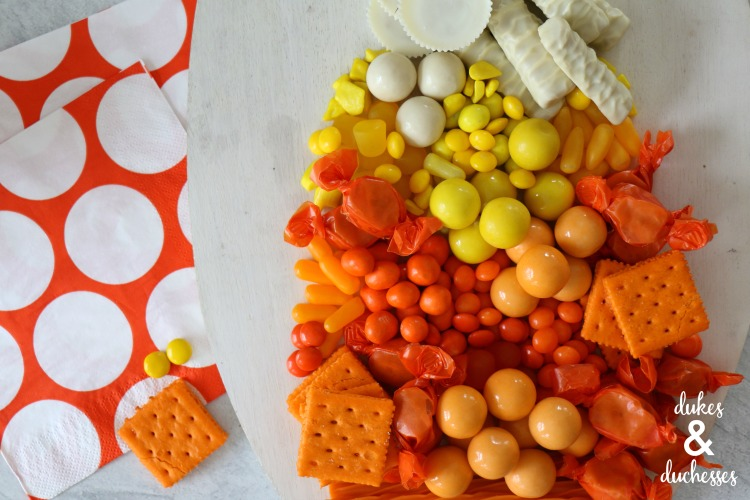 Candy Corn Halloween Charcuterie Snack Board