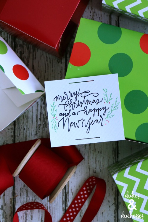 holiday gift tag made with cricut explore air 2