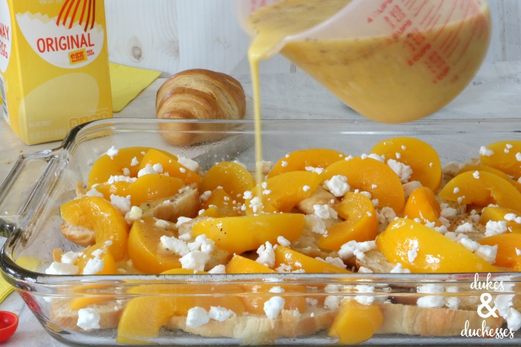 peach and goat cheese breakfast recipe