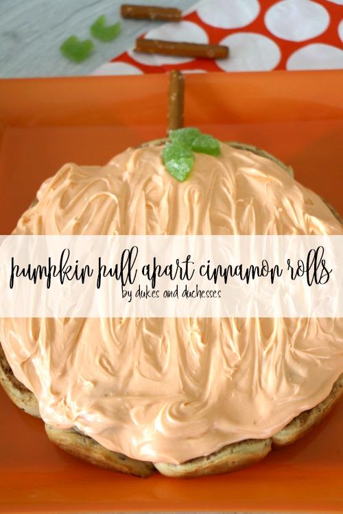 pumpkin pull apart cinnamon rolls