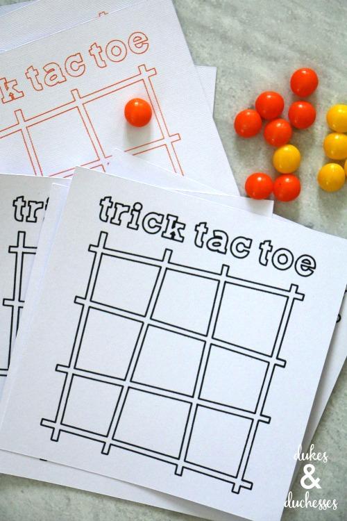 trick tac toe game cards