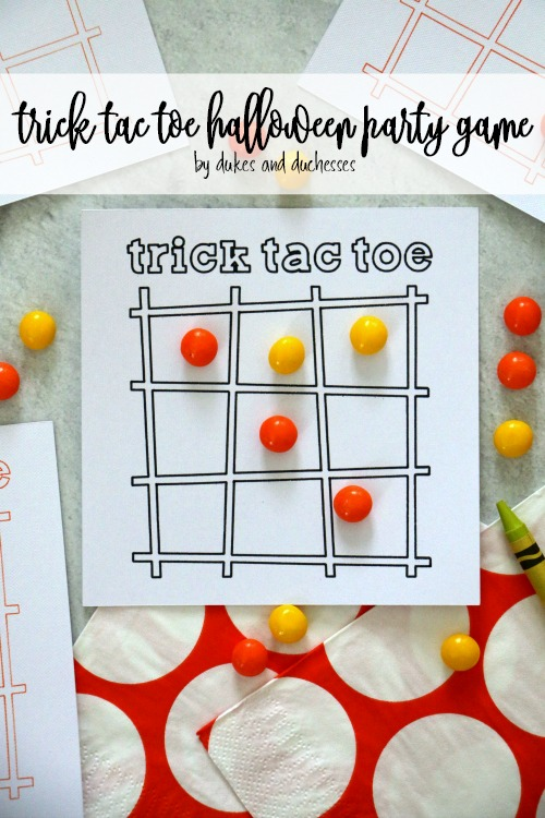 trick tac toe halloween party game