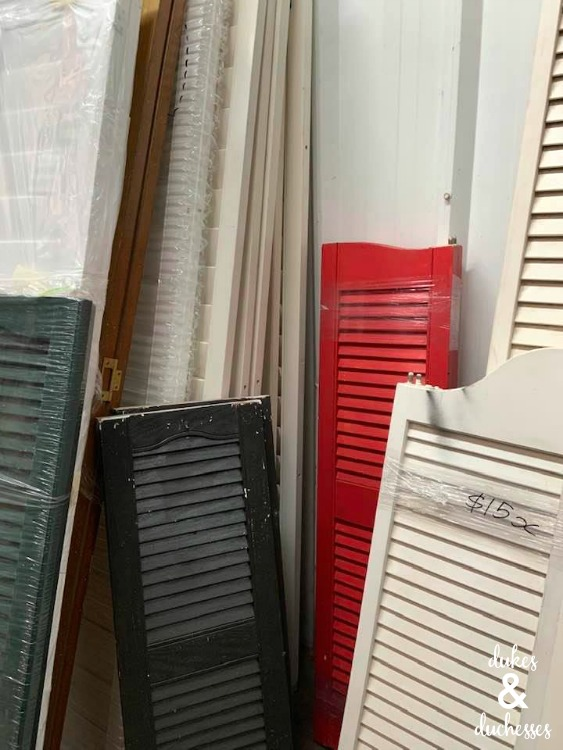 where to buy cheap shutters for upcycling