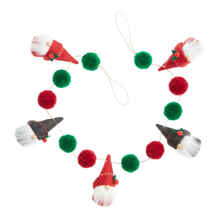 wool gnome garland
