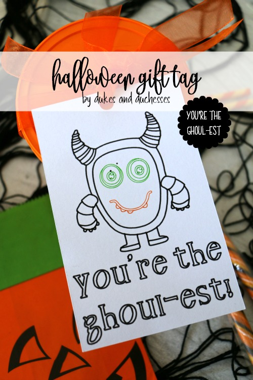 youre the ghoulest halloween gift tag