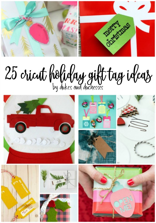 25 cricut holiday gift tag ideas